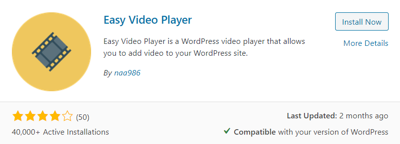 Easy Video Player Plugin